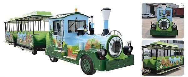 CHC-20型-彩绘款(动物园定制)无轨观光小火车