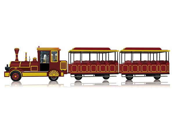 CHC-20型 胭脂红无轨观光小火车