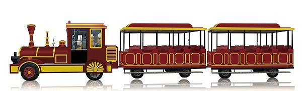 CHC-20型-胭脂红无轨观光小火车