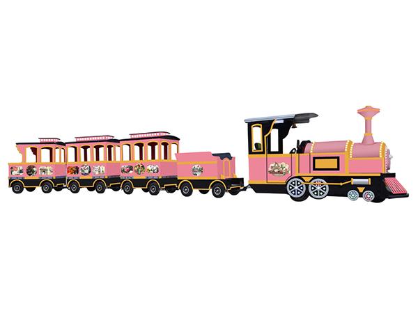 CHC-10型 海棠红无轨观光小火车